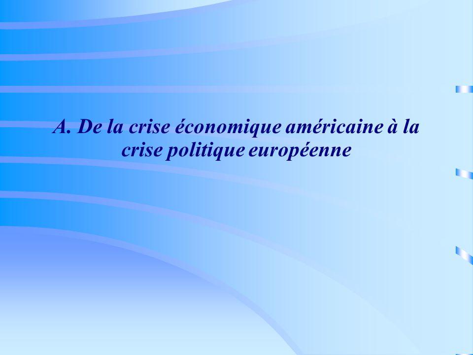 A. De la crise économique américaine à la crise politique européenne