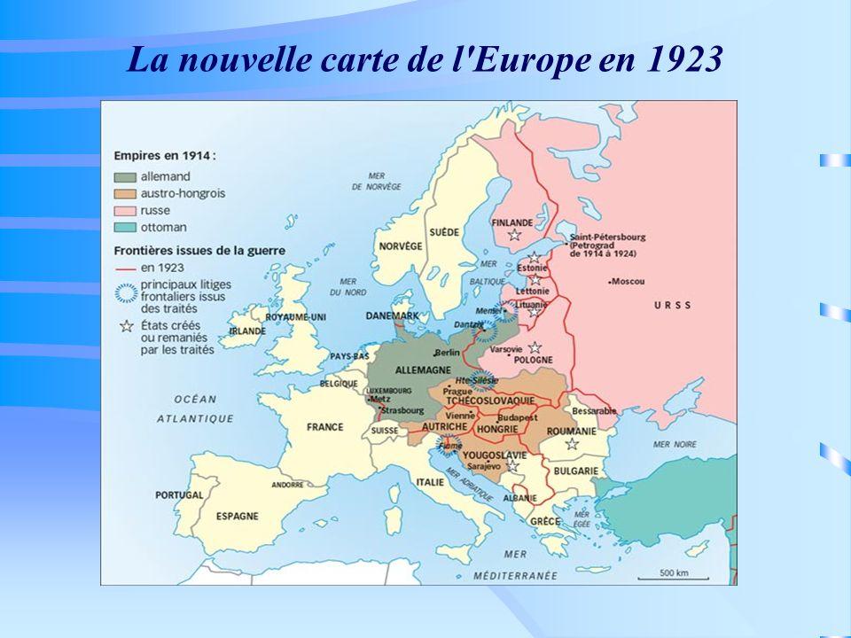 La nouvelle carte de l'Europe en 1923