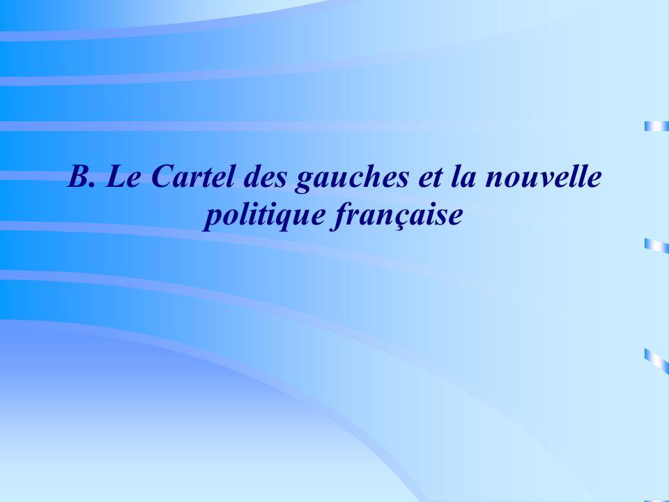 B. Le Cartel des gauches et la nouvelle politique française