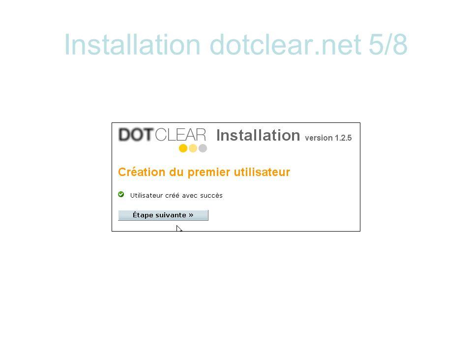 Installation dotclear.net 5/8