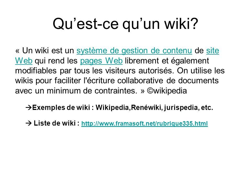 Quest-ce quun wiki.