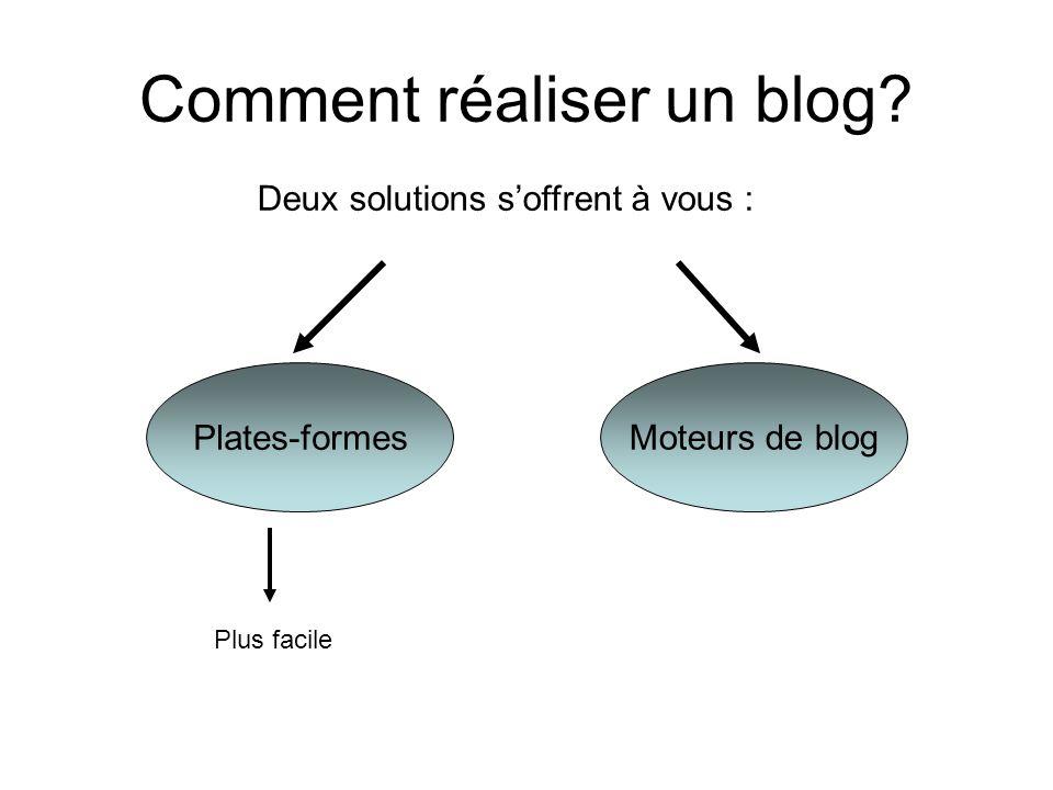 Comment réaliser un blog.
