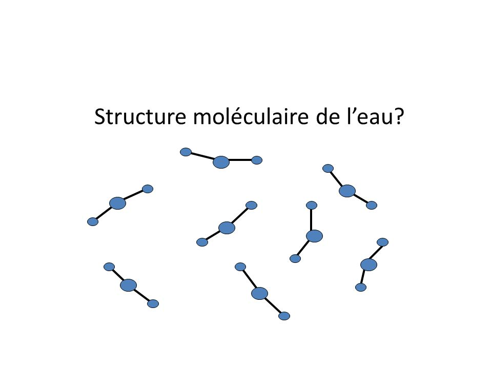 Structure moléculaire de leau?