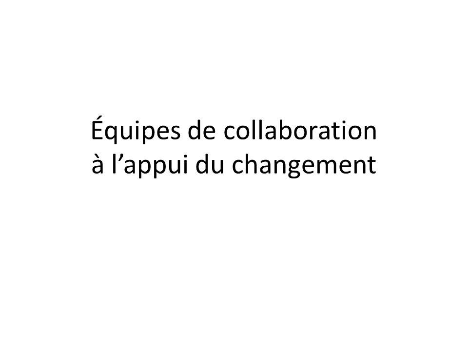 Équipes de collaboration à lappui du changement