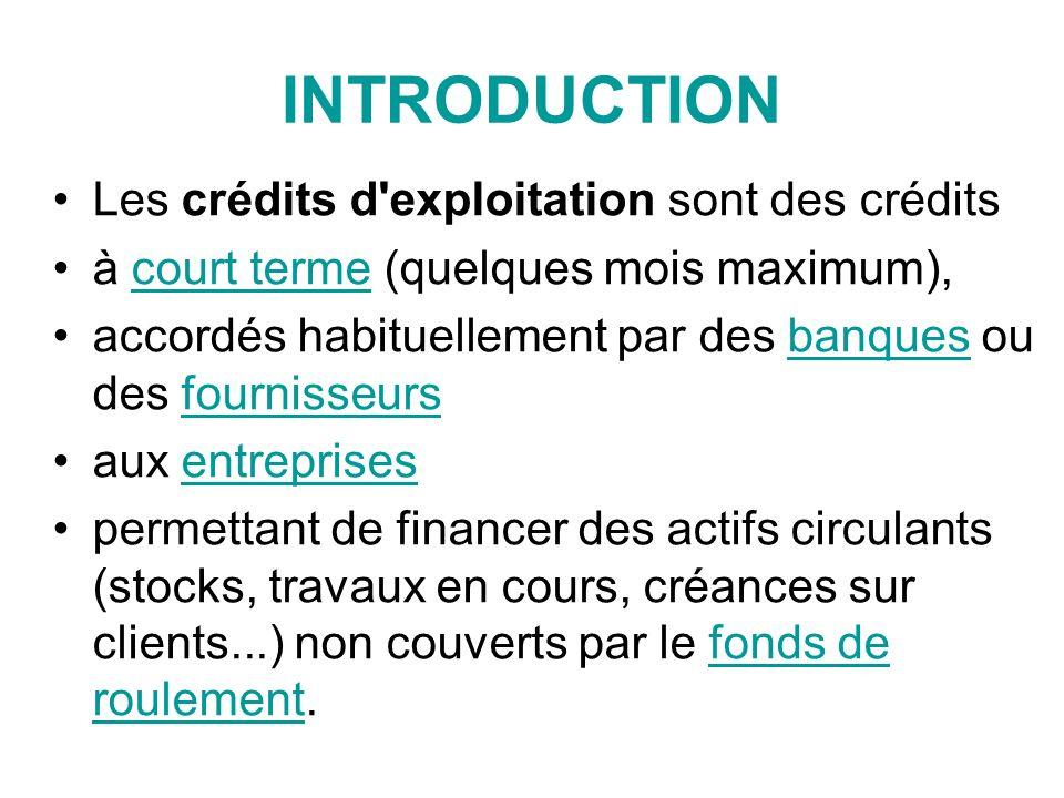 FACILITE DE CAISSE La banque autorise lentreprise à rendre son compte débiteur «quelques jours par mois» selon la formule consacrée.