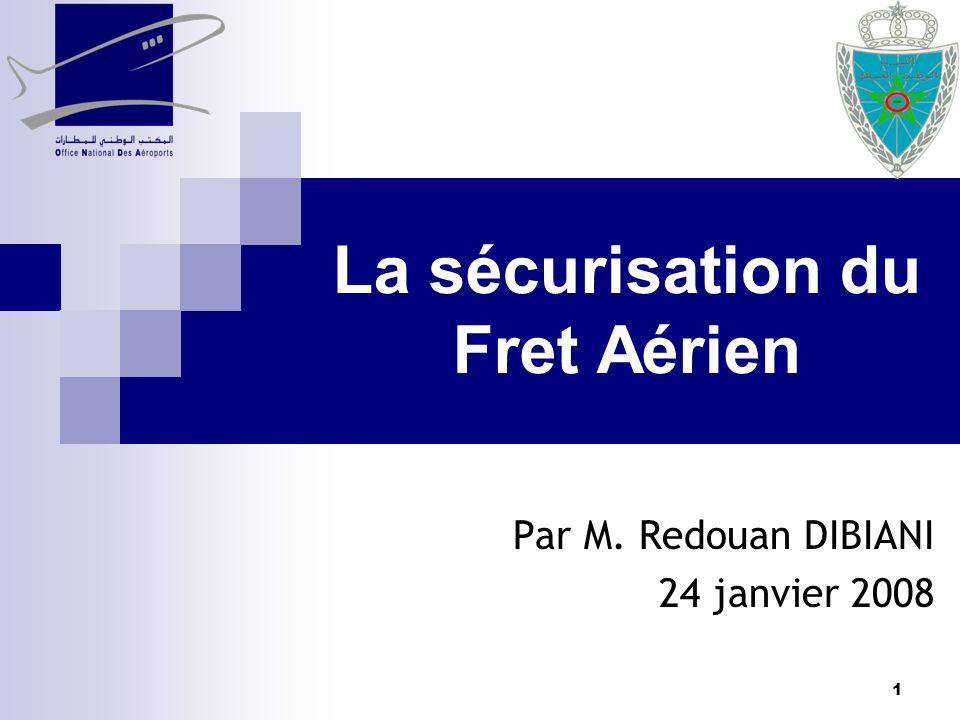 1 La sécurisation du Fret Aérien Par M. Redouan DIBIANI 24 janvier 2008