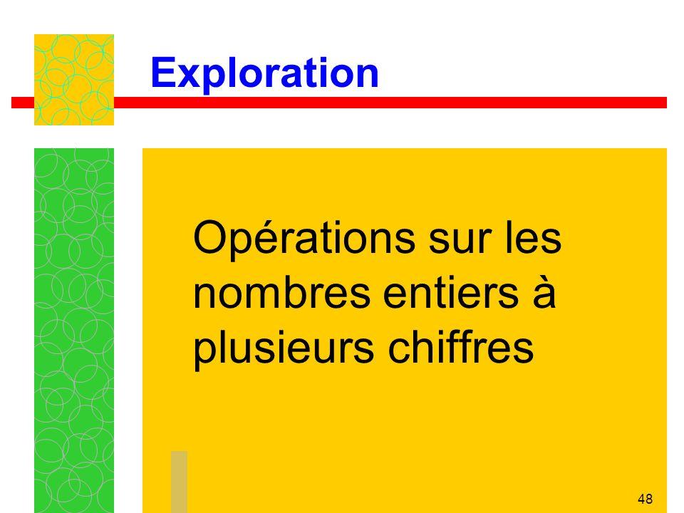 48 Exploration Opérations sur les nombres entiers à plusieurs chiffres