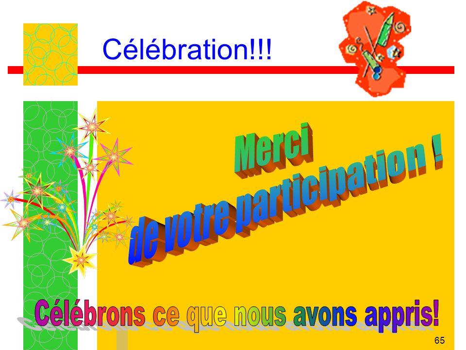 65 Célébration!!!