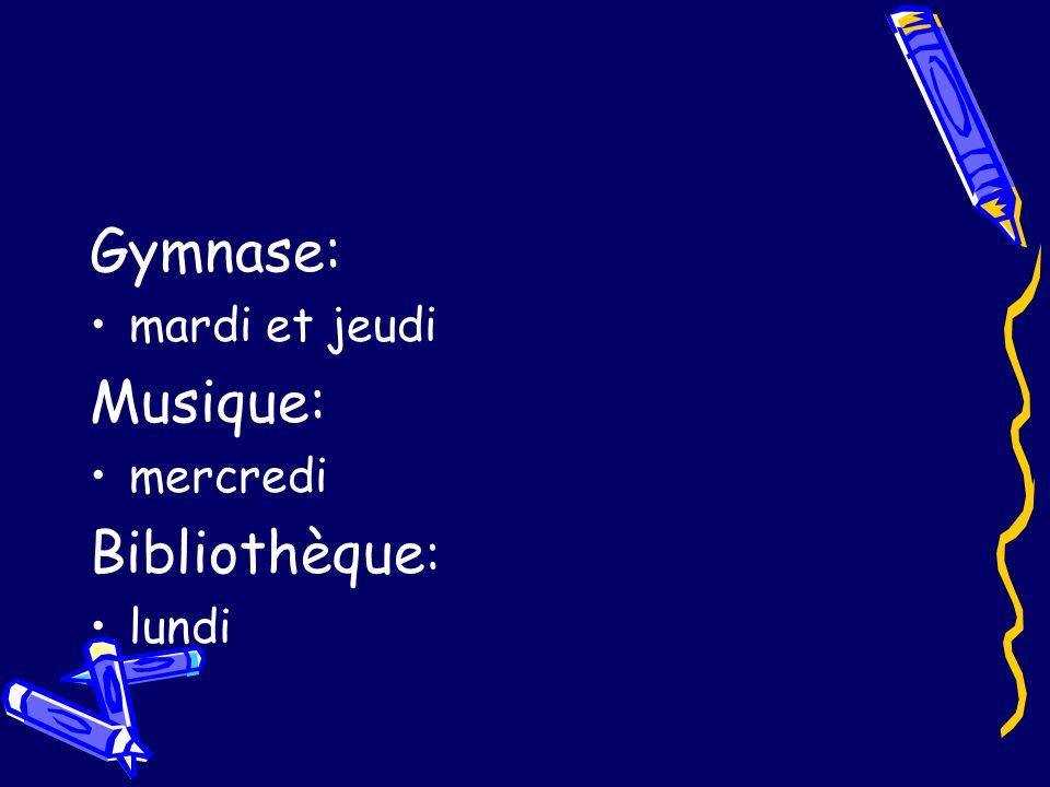 Programmes détude Français