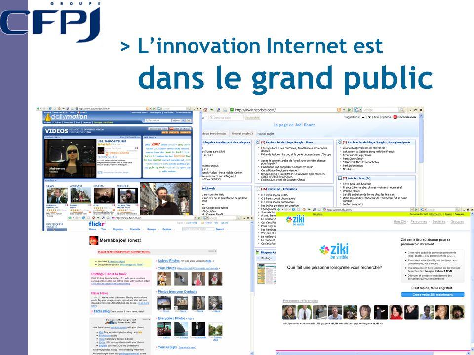 > Linnovation Internet est dans le grand public