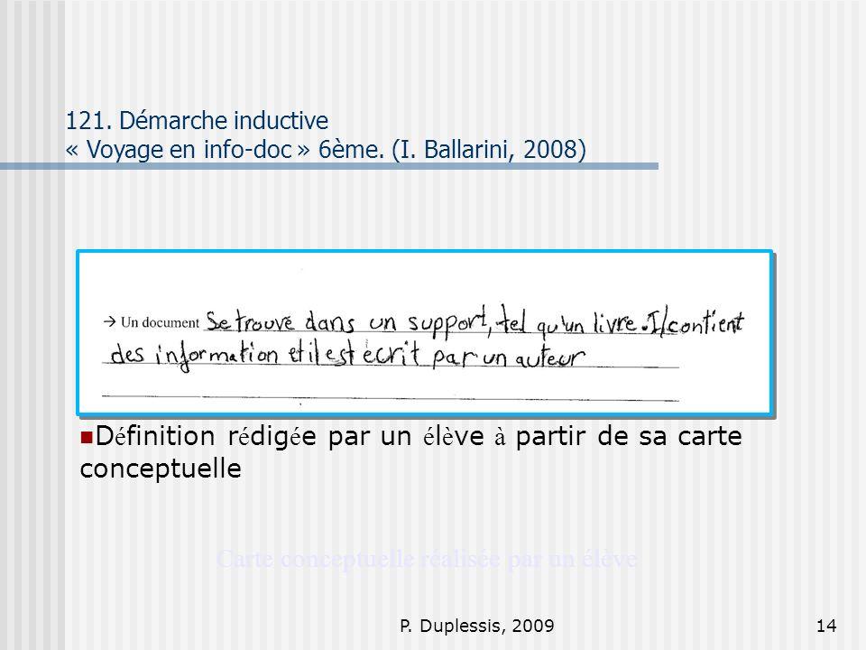 P.Duplessis, 200914 Carte conceptuelle réalisée par un élève 121.