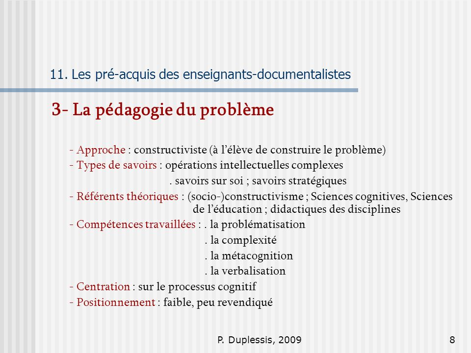 P.Duplessis, 20098 11.