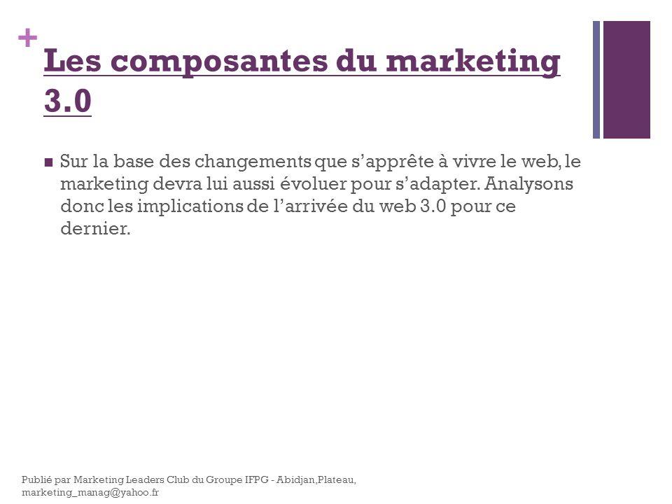 + Sur la base des changements que sapprête à vivre le web, le marketing devra lui aussi évoluer pour sadapter. Analysons donc les implications de larr