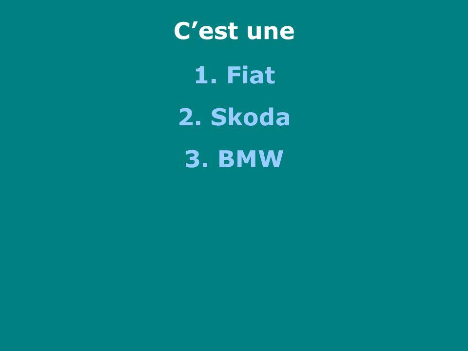 Cest une 1. Fiat 2. Skoda 3. BMW