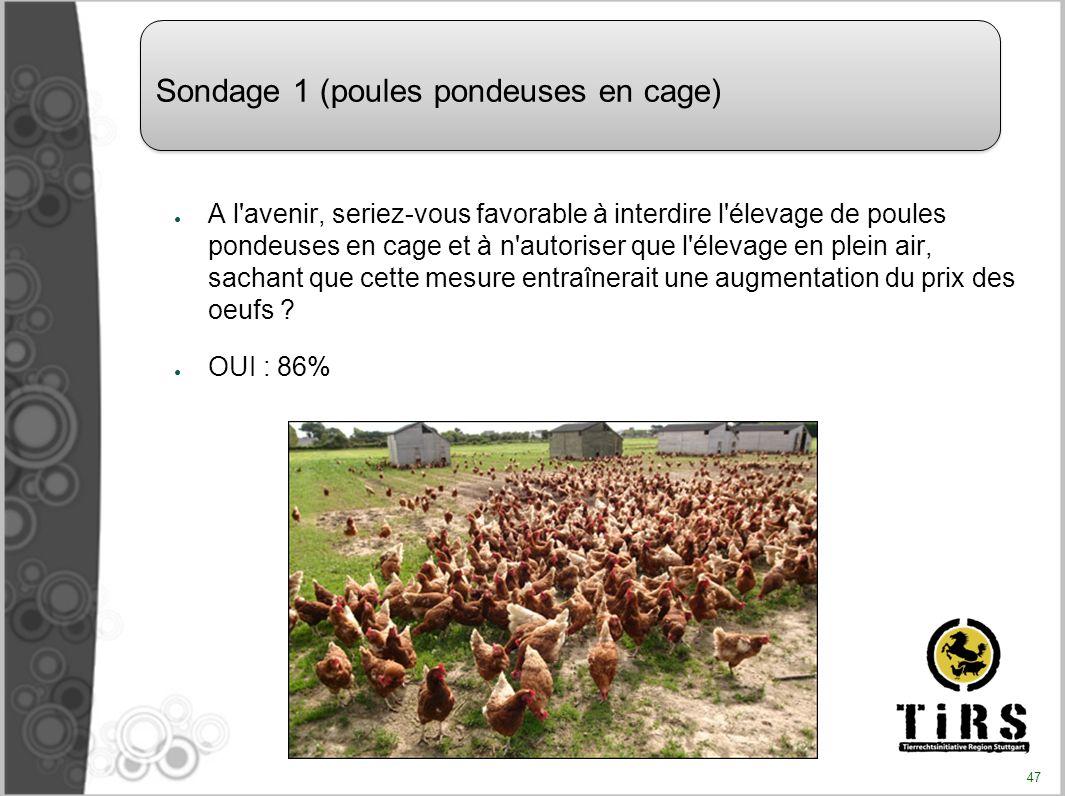 A l'avenir, seriez-vous favorable à interdire l'élevage de poules pondeuses en cage et à n'autoriser que l'élevage en plein air, sachant que cette mes