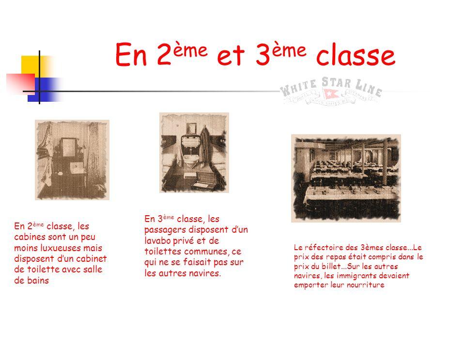 Les aménagements en première classe Le grand escalier, une cabine de 1 ère classe et le café parisien « meet me at the clock. Make each day count....