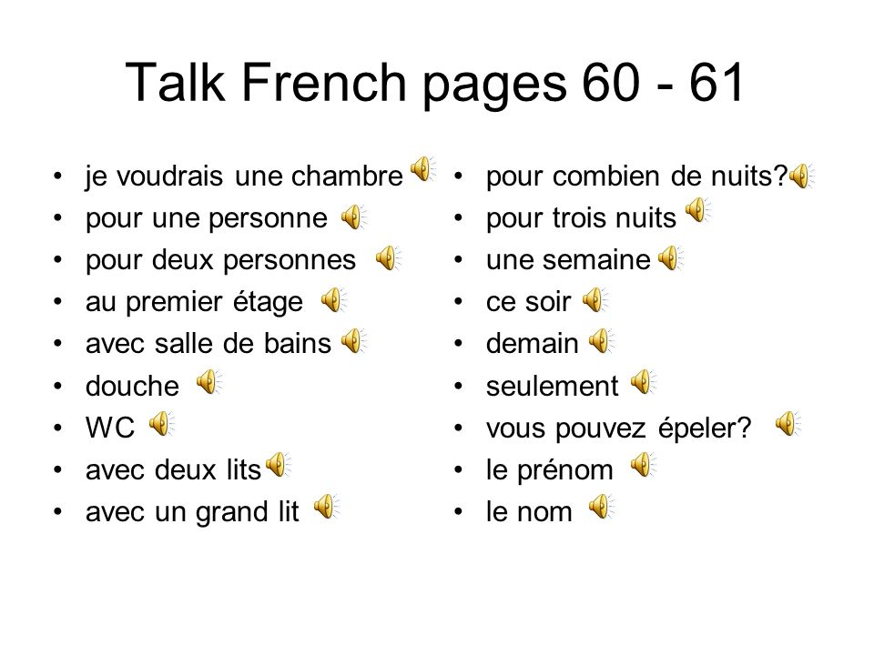 Talk French pages 54 - 55 pour aller à lhôpital.