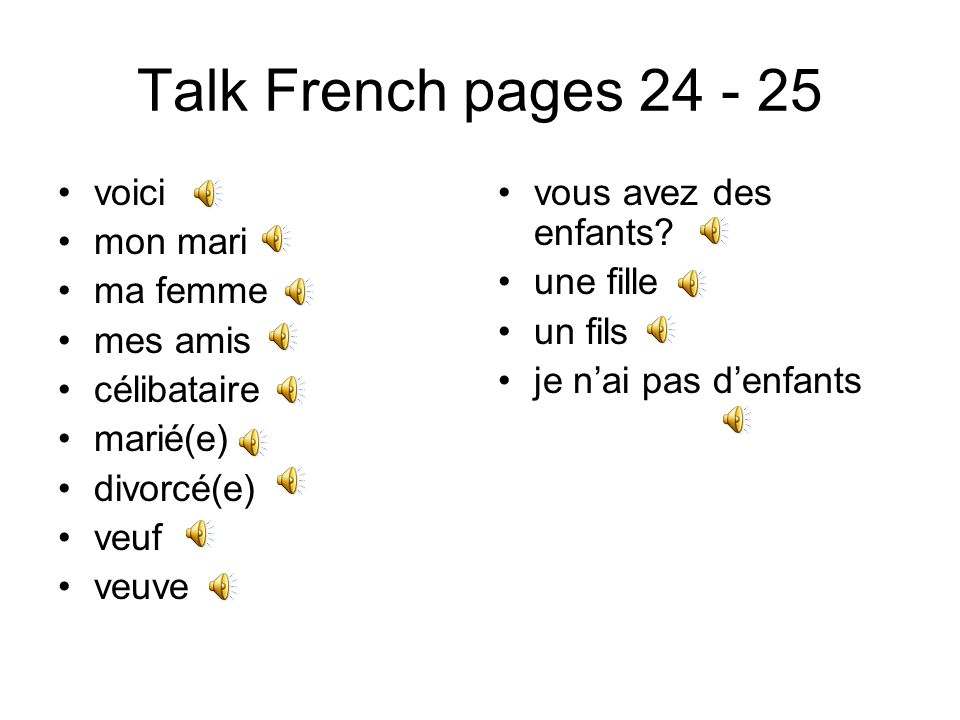 Talk French pages 17 - 19 vous êtes doù.