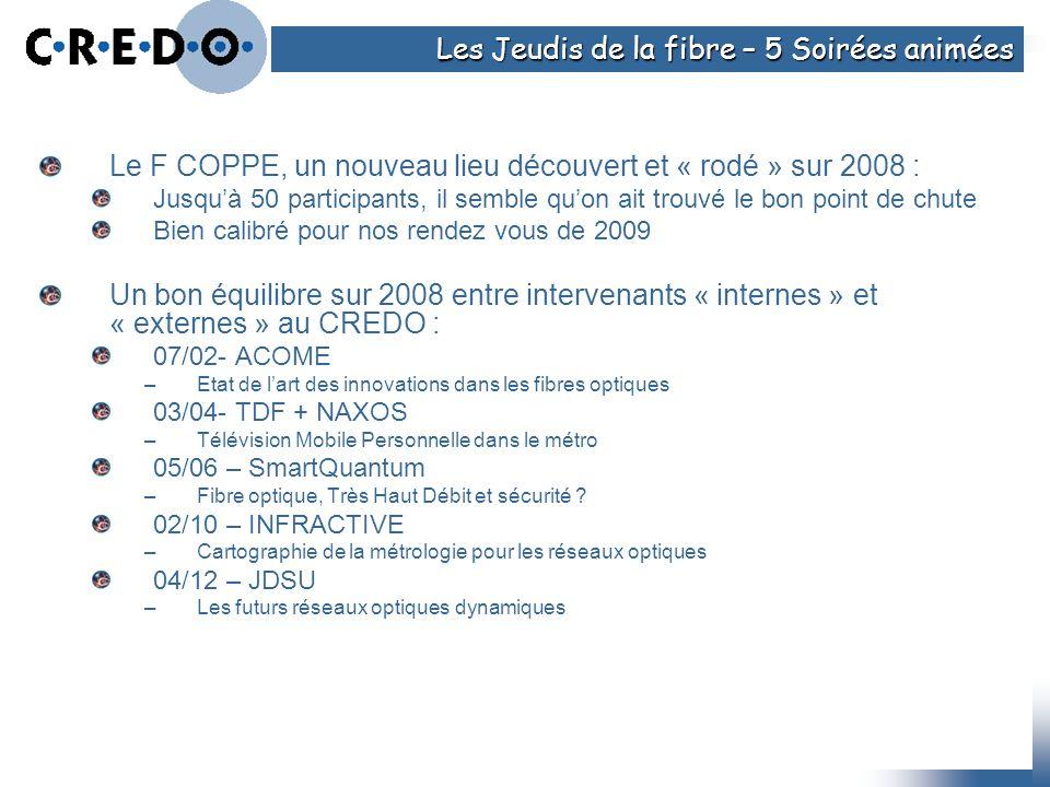 Le F COPPE, un nouveau lieu découvert et « rodé » sur 2008 : Jusquà 50 participants, il semble quon ait trouvé le bon point de chute Bien calibré pour