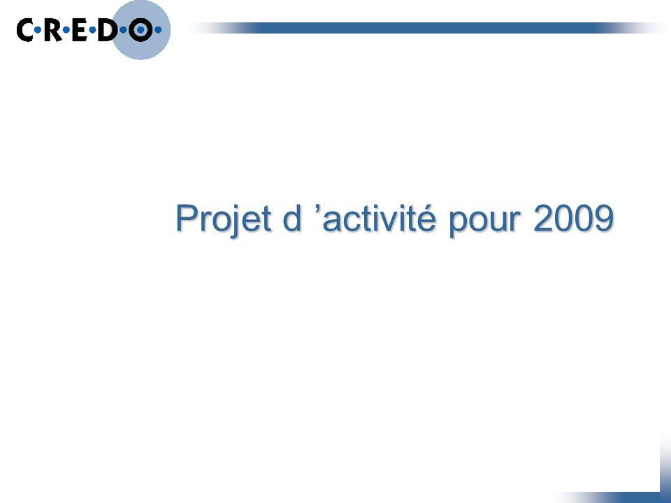 Projet d activité pour 2009