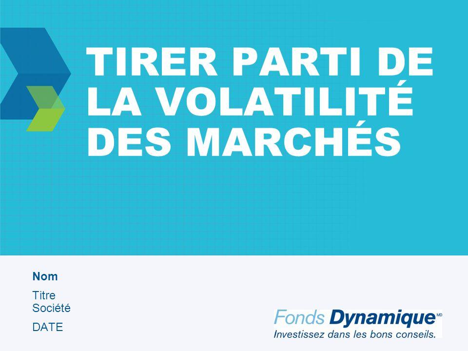 TIRER PARTI DE LA VOLATILITÉ DES MARCHÉS Nom Titre Société DATE