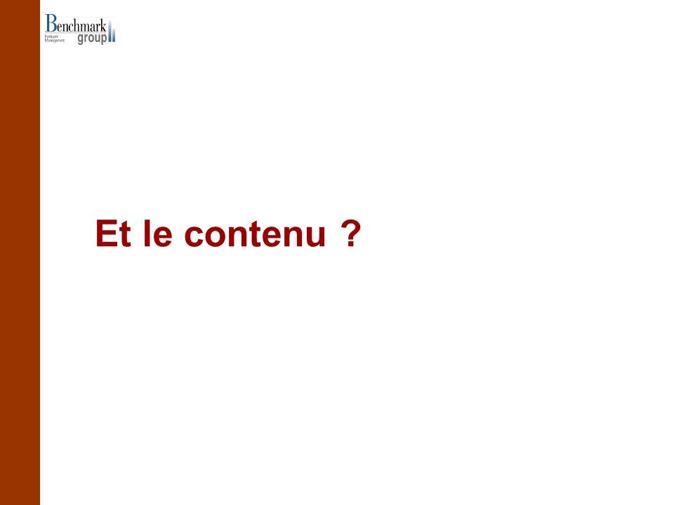 Et le contenu ?
