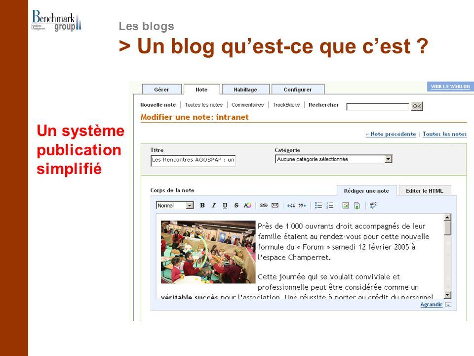 > Un blog quest-ce que cest Un système de publication simplifié Les blogs