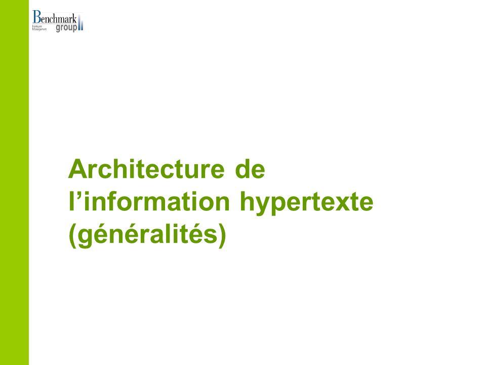 Architecture de linformation hypertexte (généralités)