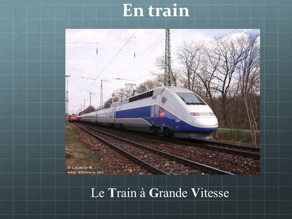 En train _________