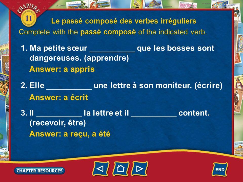 11 Le passé composé des verbes irréguliers 2.
