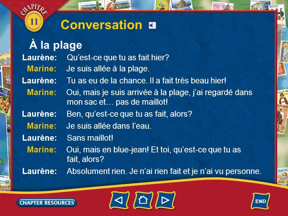 11 Conversation À la plage