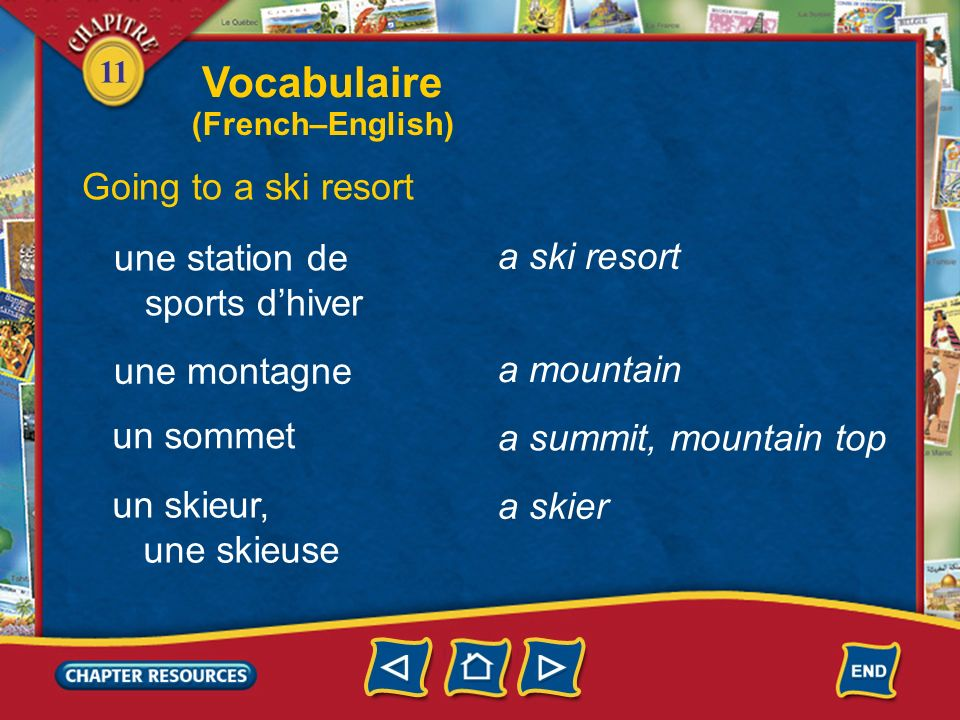 11 Describing summer activities une piscine un surfeur, une surfeuse a pool a surfer Vocabulaire (French–English)