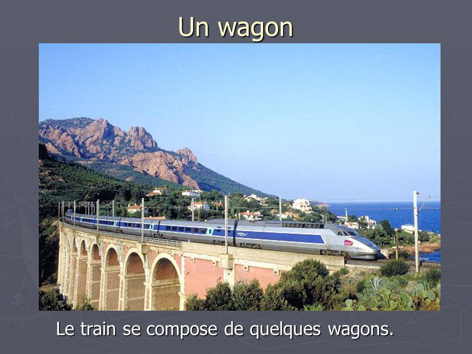 Un compartiment Un wagon se compose de compartiments. Cest commode de voyager en compartiment.