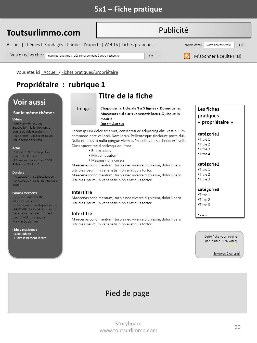 Toutsurlimmo.com Accueil | Thèmes l Sondages | Paroles dexperts | WebTV| Fiches pratiques Newsletter Votre adresse email OK Votre recherche : Inscrive