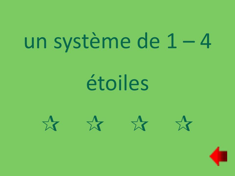 un système de 1 – 4 étoiles