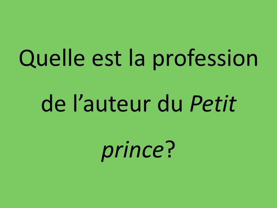 Quelle est la profession de lauteur du Petit prince?