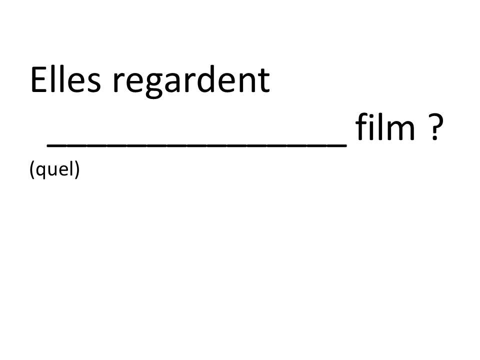Elles regardent _______________ film ? (quel)