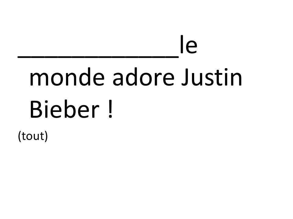 ____________le monde adore Justin Bieber ! (tout)
