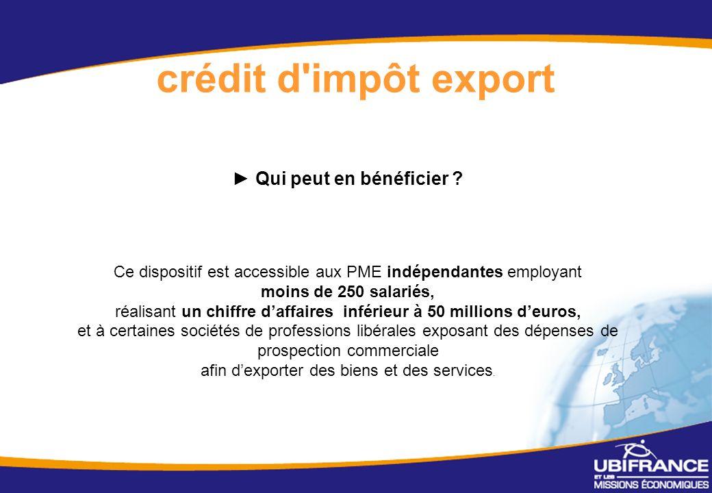 17 crédit d impôt export Qui peut en bénéficier .