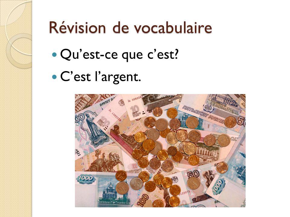 Révision de vocabulaire Quest-ce que cest? Cest un chèque de voyage.