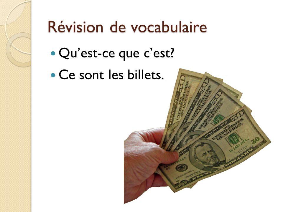 Révision de vocabulaire Quest-ce que cest? Cest un chèque.