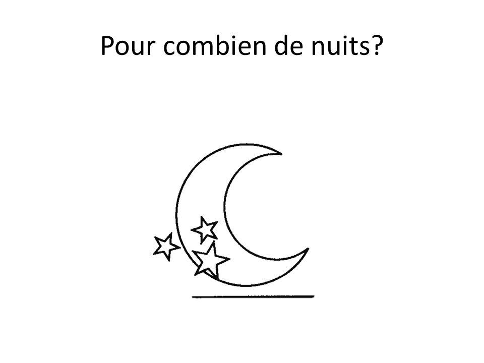 Pour combien de nuits?