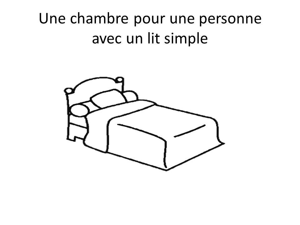 Une chambre pour une personne avec un lit simple