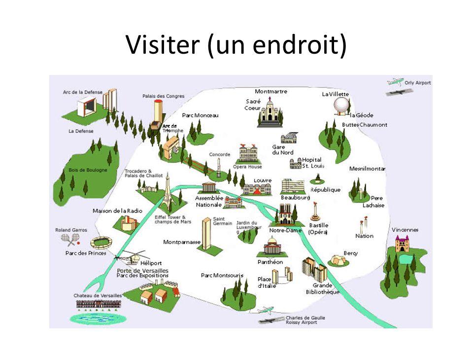 Visiter (un endroit)