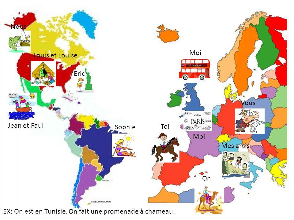 Sophie Nous Jean et Paul Eric Moi Vous Toi Mes amis Moi EX: On est en Tunisie.