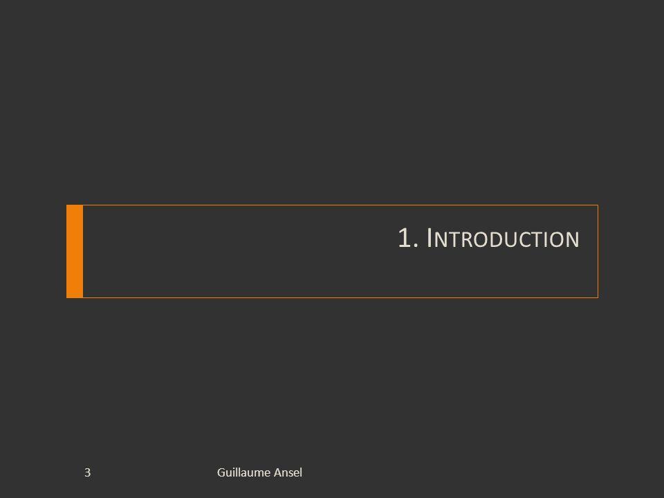 1.Introduction Guillaume Ansel Stage de Licence Informatique Durée : 10 semaines Sujet : « Création dun site Internet dynamique pour la société Studio Odyssée » Entreprise daccueil : Studio Odyssée Encadrement : Virginie MARION-POTY 4