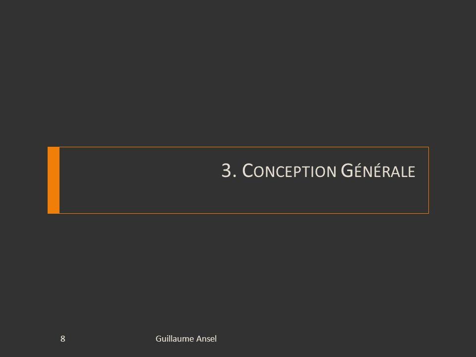 3. C ONCEPTION G ÉNÉRALE Guillaume Ansel8