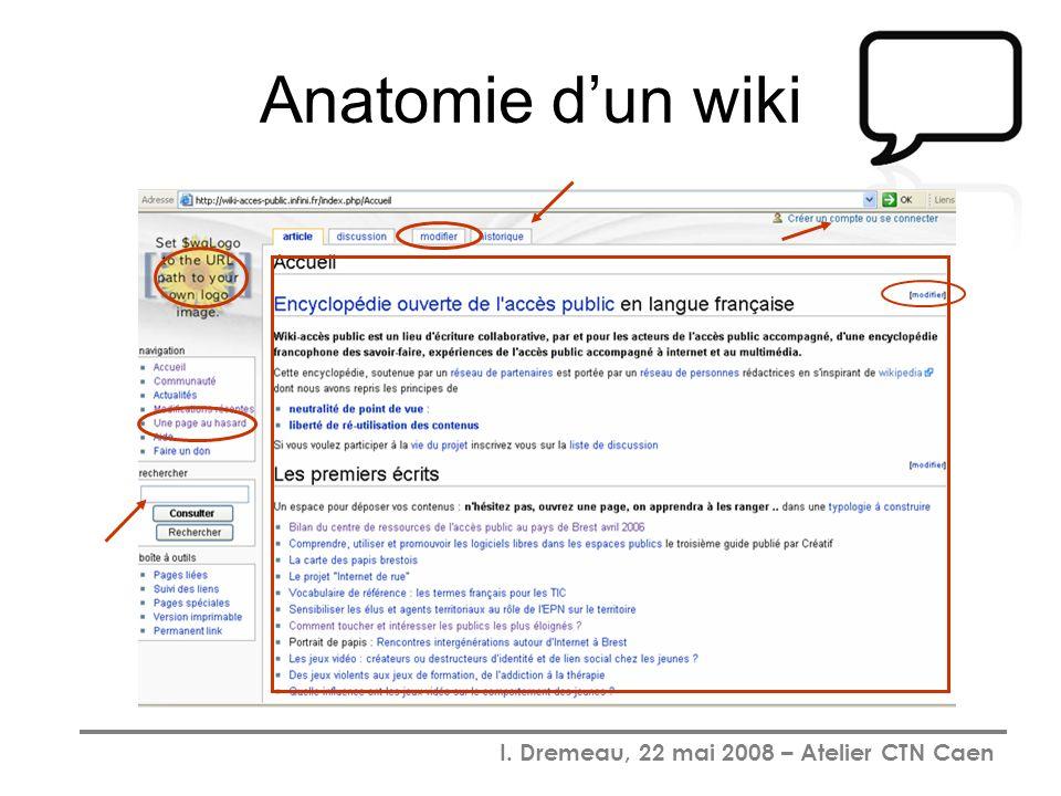 I. Dremeau, 22 mai 2008 – Atelier CTN Caen Anatomie dun wiki