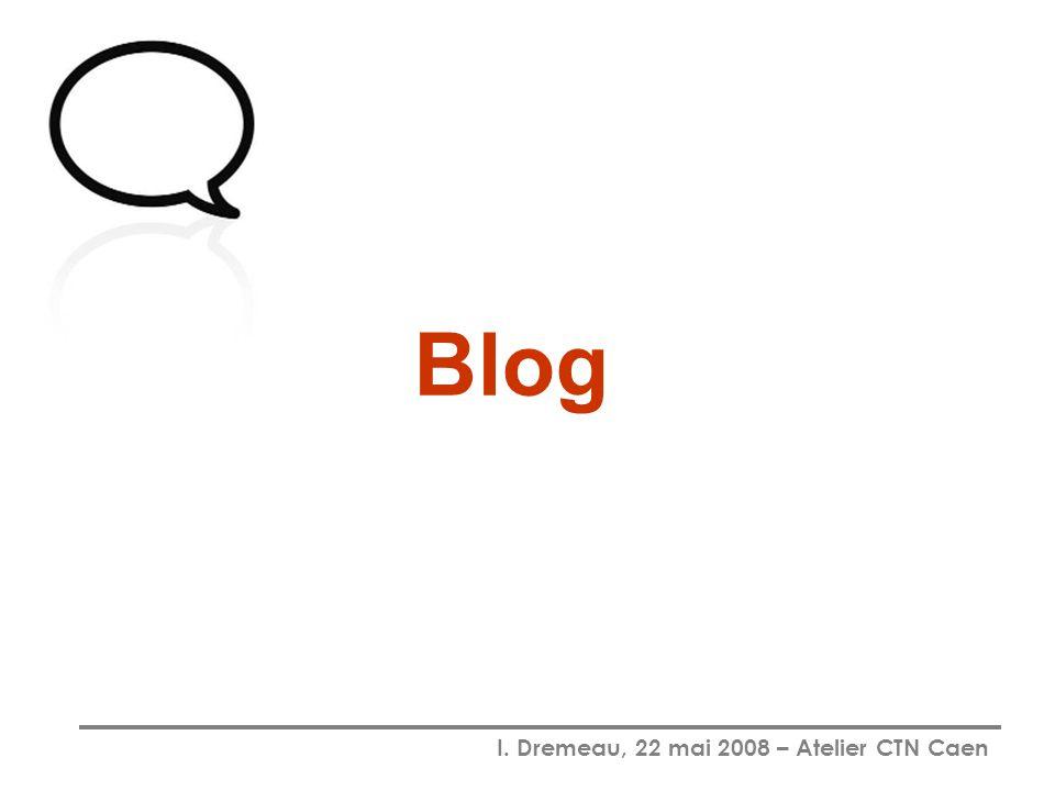 I. Dremeau, 22 mai 2008 – Atelier CTN Caen Blog