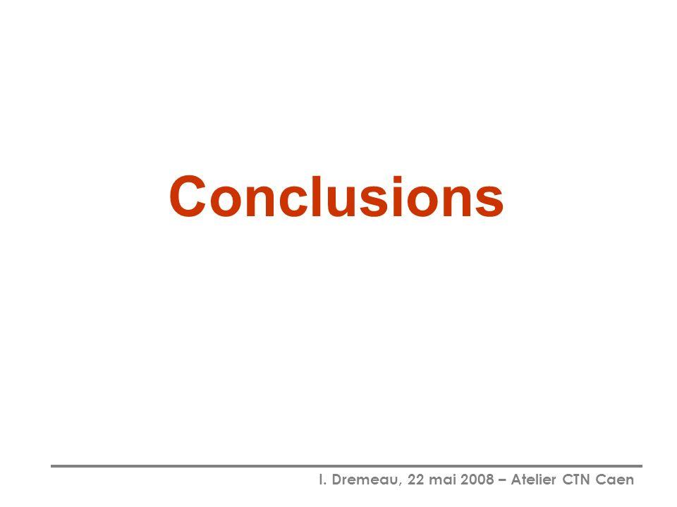 I. Dremeau, 22 mai 2008 – Atelier CTN Caen Conclusions